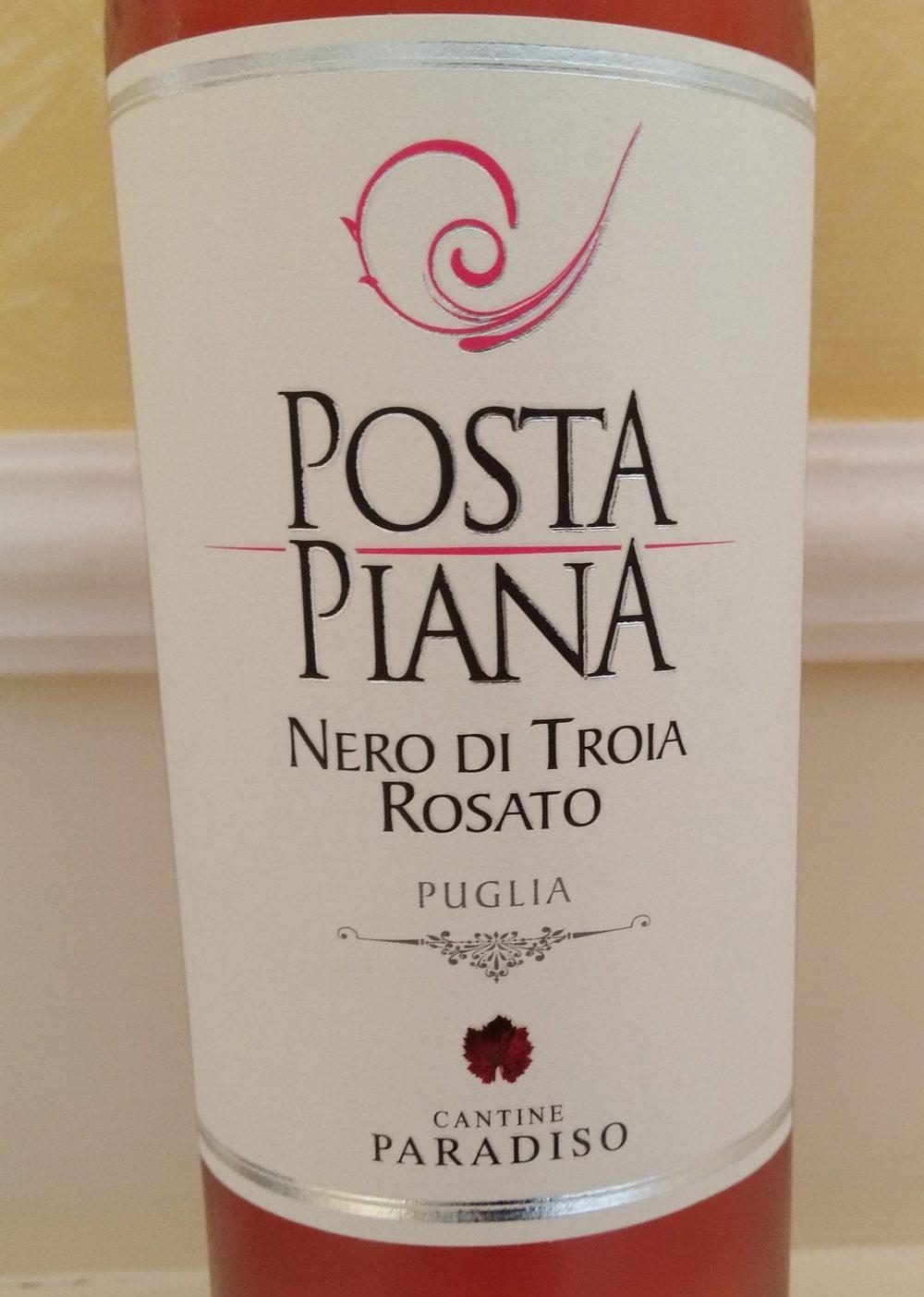 Posta Piana Nero di Troia Rosato Puglia Igp 2017 Cantine Paradiso