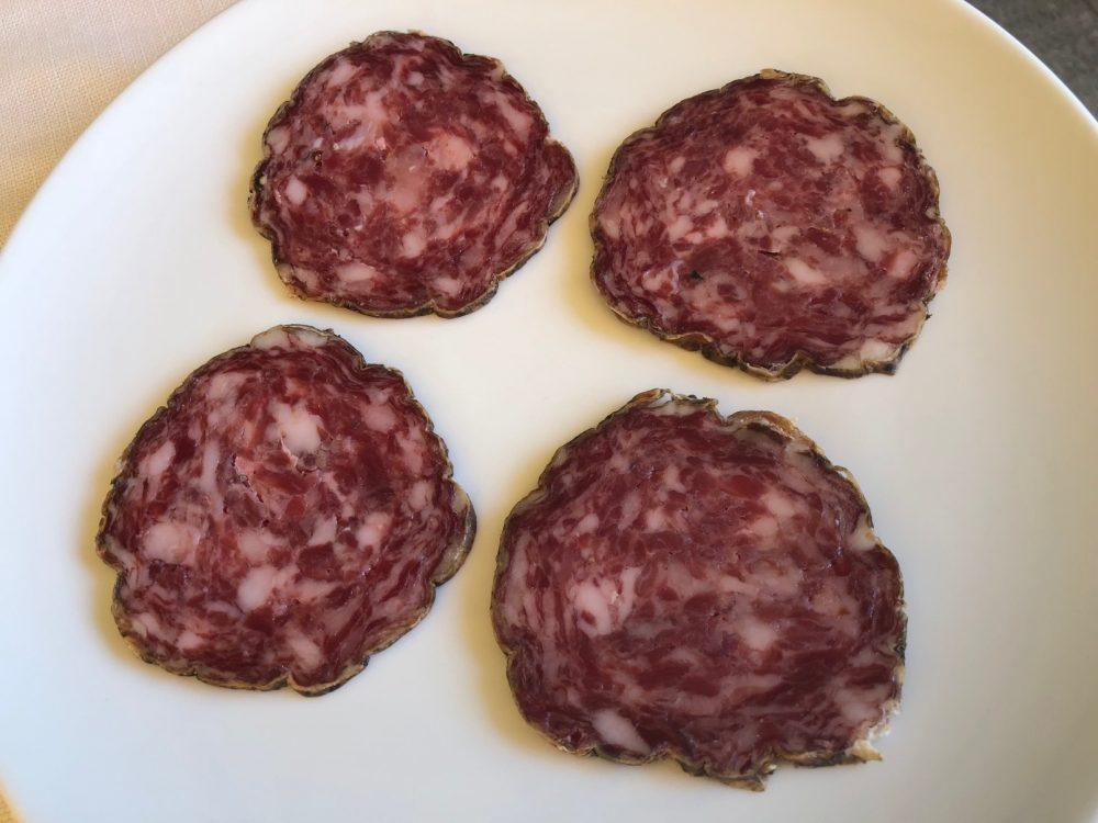 Trattoria Visconti, salame bergamasco, stagionatura dieci mesi