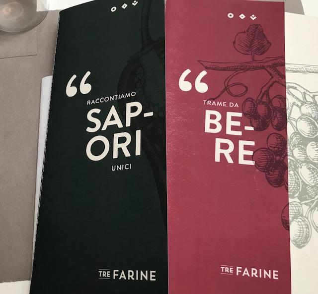 Tre Farine - Menu' e carta dei vini