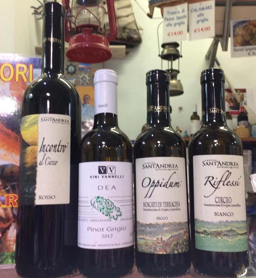 Il mare di Terracina -selezioni di vino