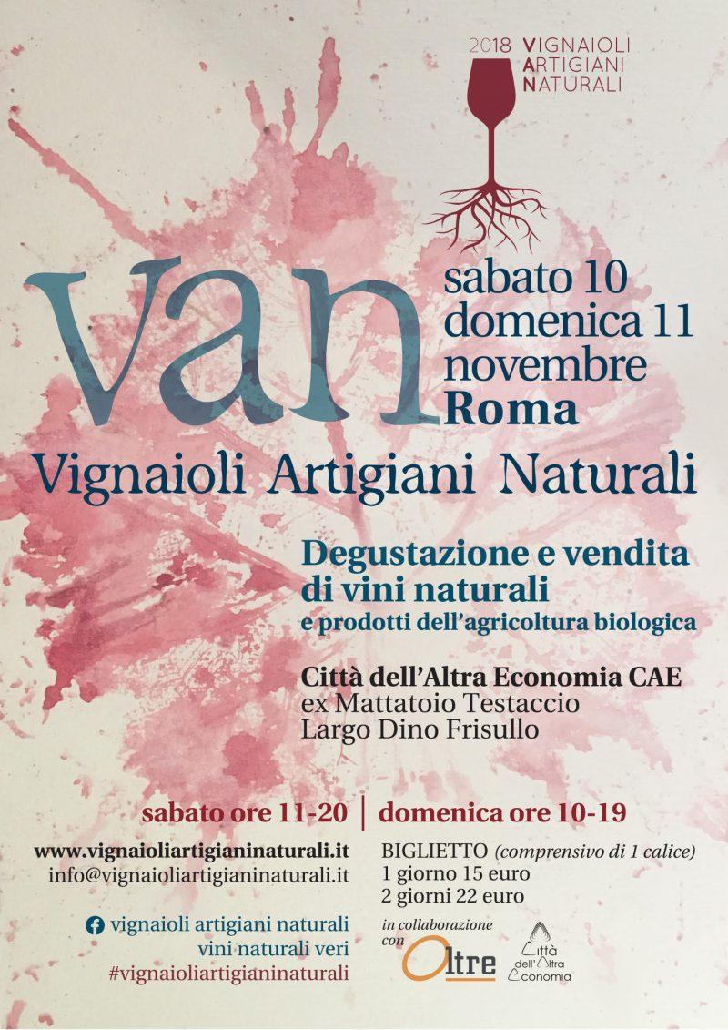 V.A.N. - Vignaioli Artigiani Naturali ROMA 2018 Ottava edizione