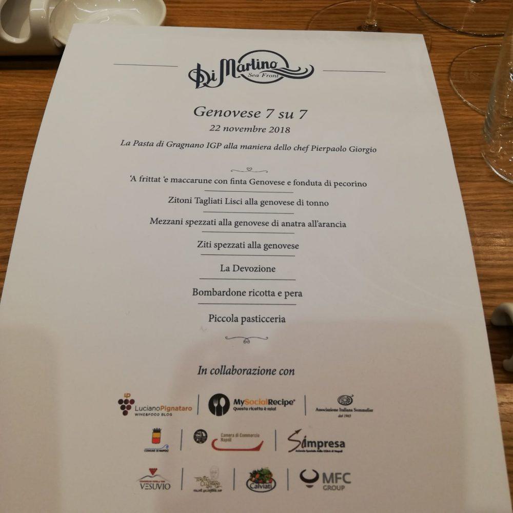 Genovese7su7 - La Masterclass il menu'