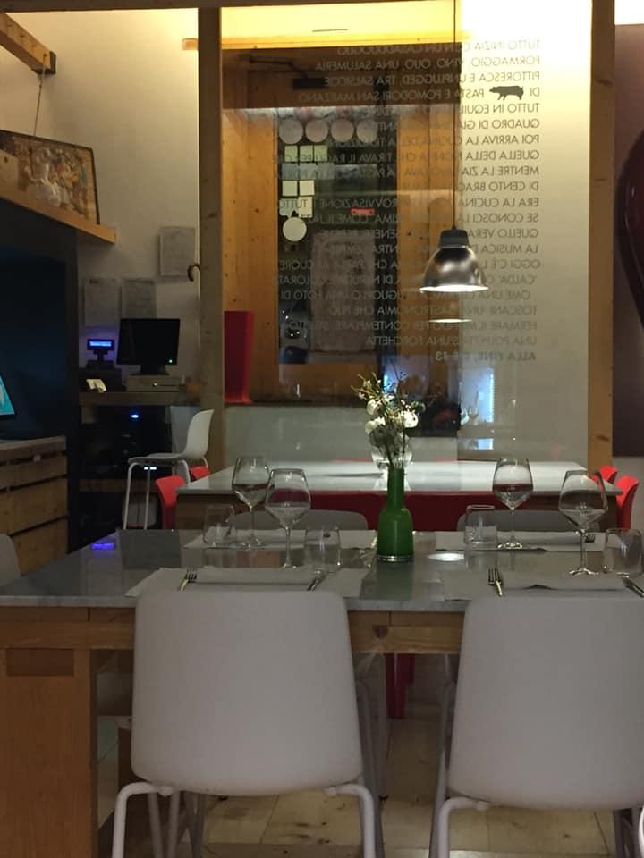 Salumeria e Cucina, scorcio della sala