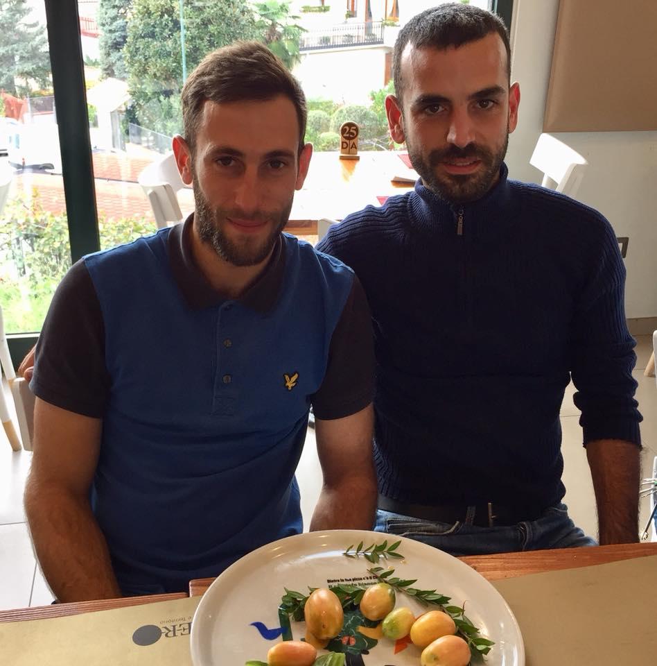 I produttori del pomodorino di Rofrano, Giovanni Cavallo e Giovanni Speranza