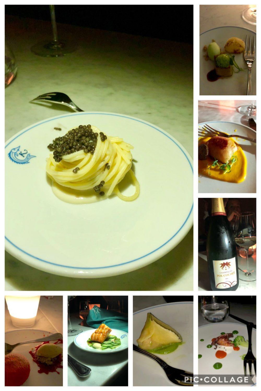 Alcune proposte del ristorante Caviar Kaspia