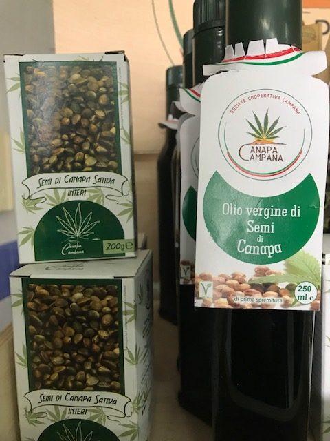 Canapa Campana - olio e semi di canapa