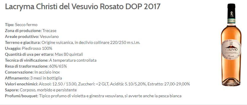 Cantine del Vesuvio - lacryma christi rosato