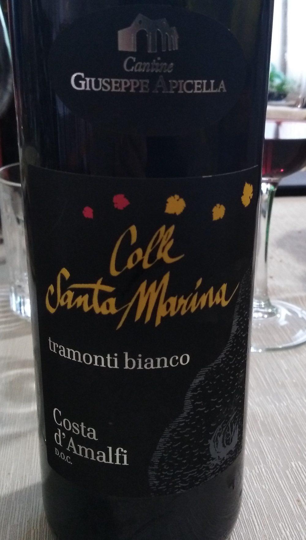 Colle Santa Marina Costa d'Amalfi Bianco Doc 2017 Giuseppe Apicella