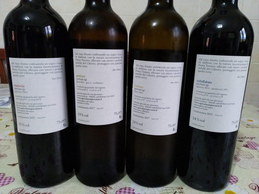 Controetichette vini azienda San Giovanni