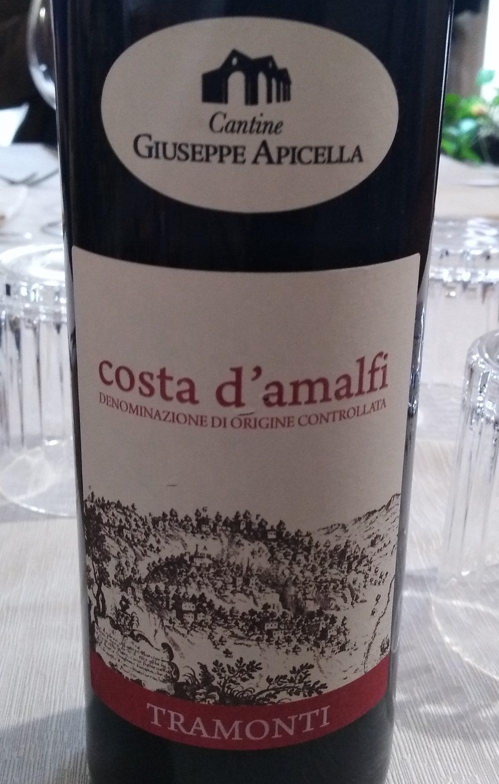 Costa d'Amalfi Tramonti Rosso Doc 2015 Giuseppe Apicella