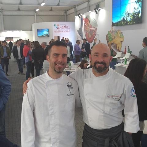 Dario Rossi e chef Alain Rosica di Castelli Food&Wine
