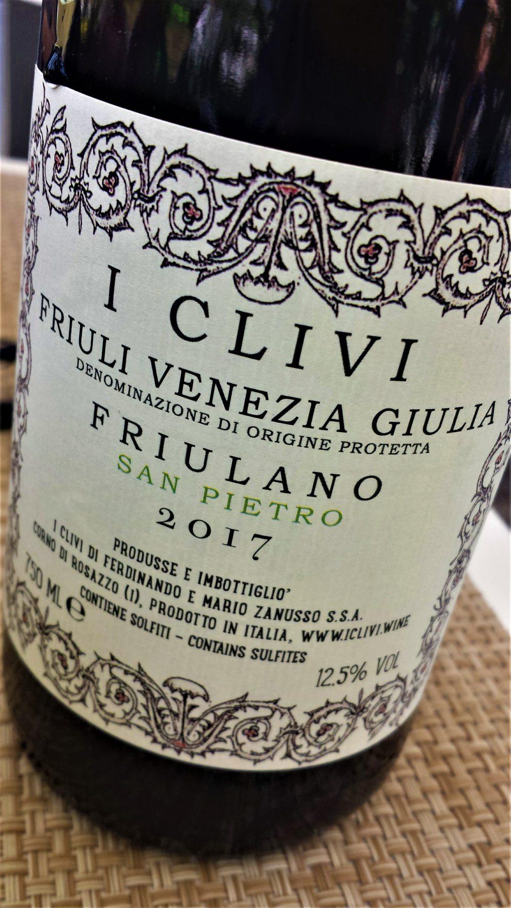 F.V.G. Friulano San Pietro 2017, I Clivi