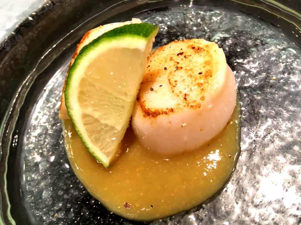 Japaj Sushi - Hotate Aburi & Yuzu Sauce
