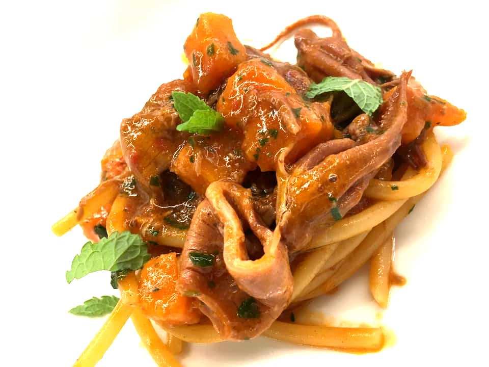 Seafront Pasta Bar - Lo Spaghetto con Zucca e Moscardini