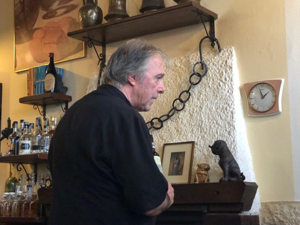 Giuliano Cesati, il titolare della Taverna