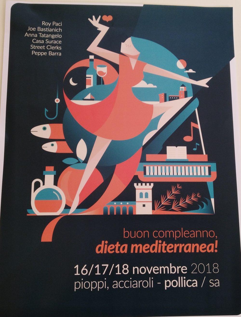 Locandina Buon compleanno Dieta Mediterranea