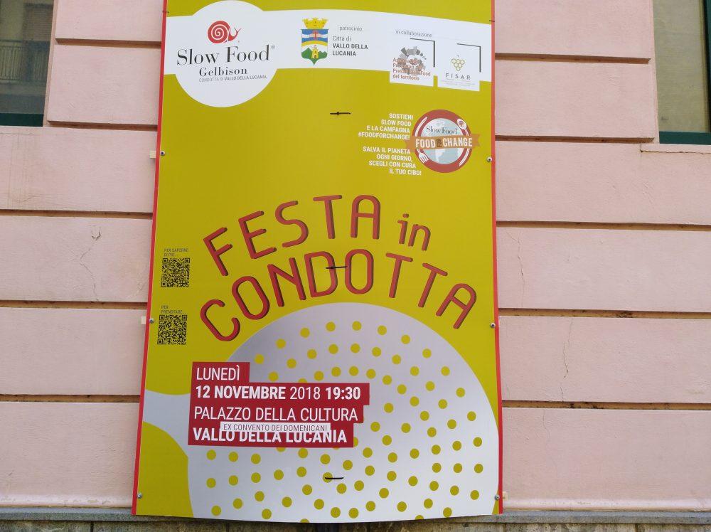 Locandina Festa in Condotta Slow Food Gelbison Vallo della Lucania