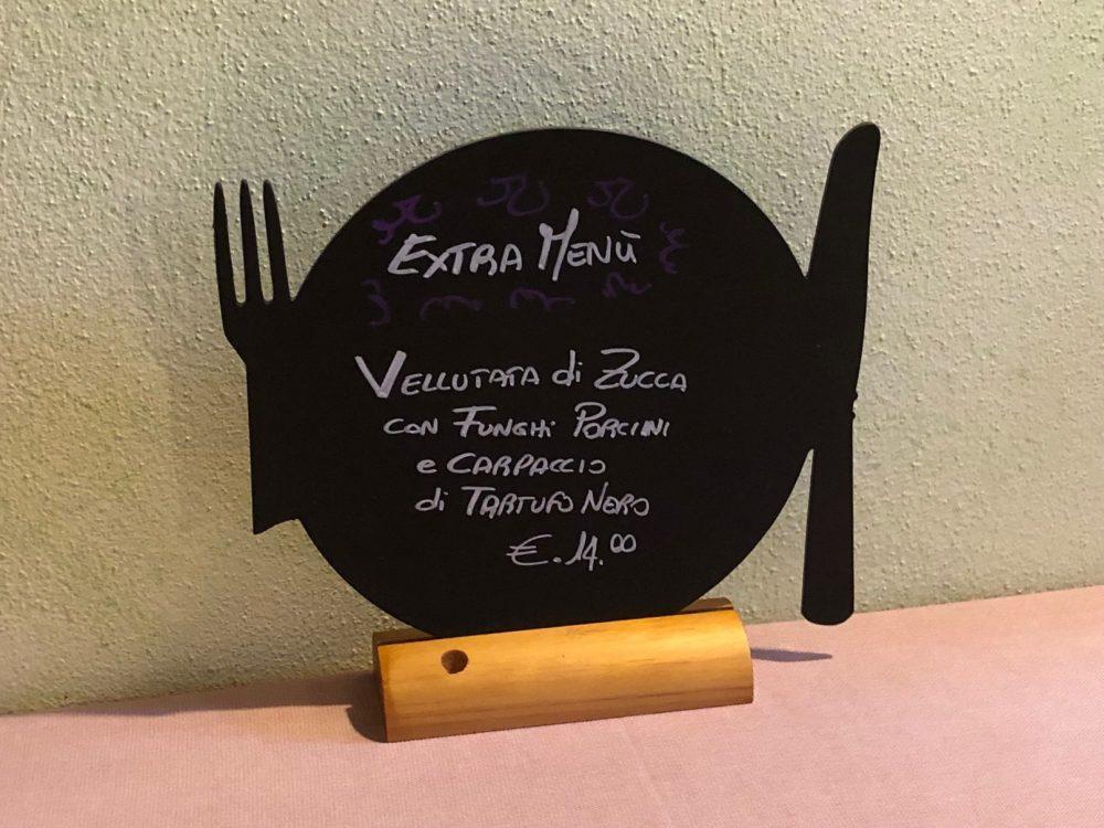 Osteria Robebuone, extra menu'