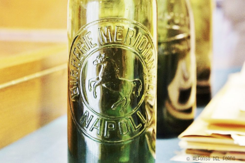 Particolare della bottiglia di Birrerie Meridionali