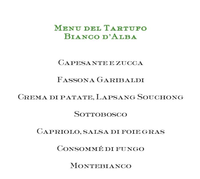Piazza Duomo, il menu' dedicato al tartufo bianco d'Alba