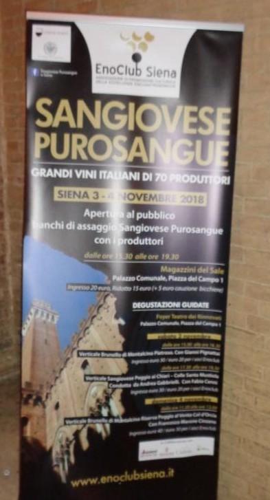 Sangiovese Purosangue – Edizione di Siena 2018