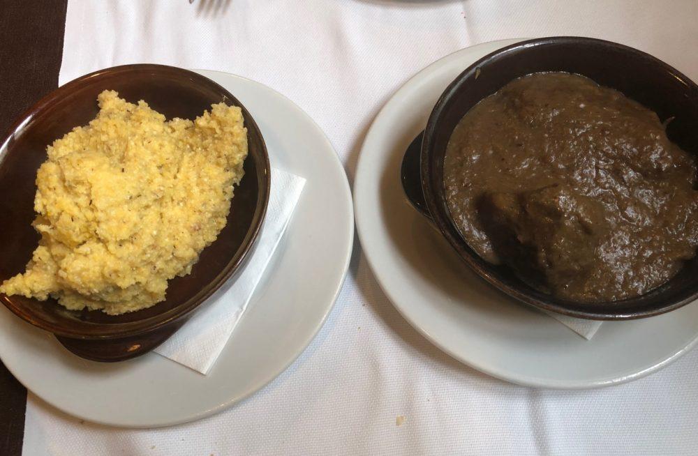 Taverna dei Viandanti, brasato con polenta