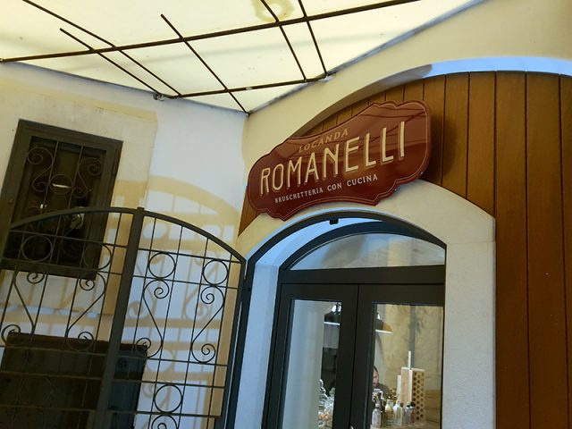 ingresso della Locanda Romanelli