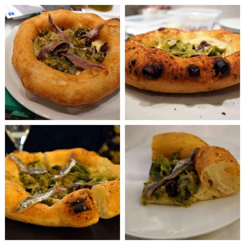 Pizza scarole alici forno fritta Pignalosa