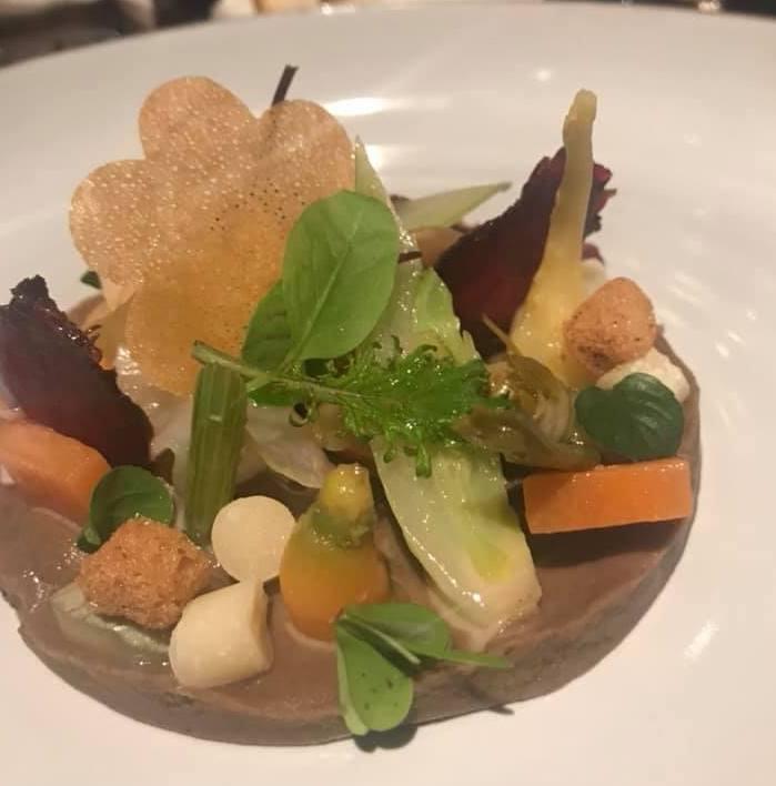 Grand Hotel Parkers. Natura, primo servizio con erbe e verdure cotte, crude, marinate e conservate