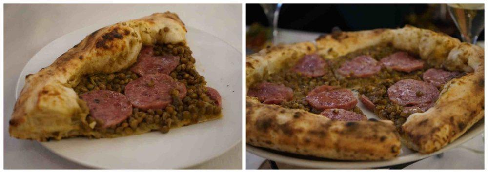 Pizza zampone lenticchie