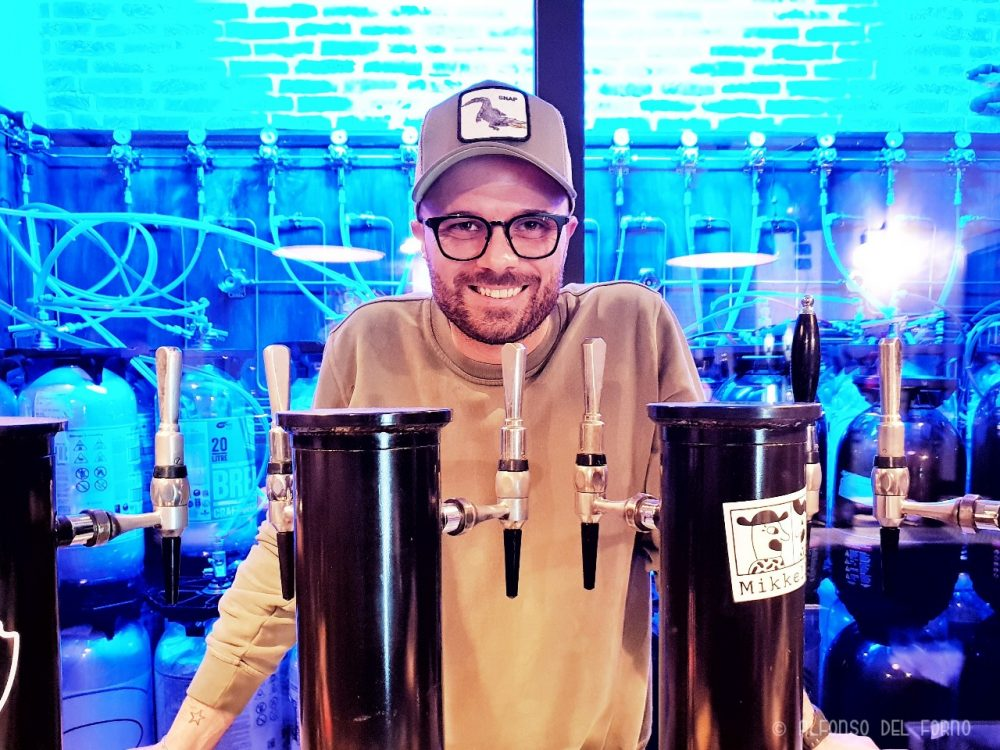 Alfonso Agovino, co-titolare del Beer Dock Lab
