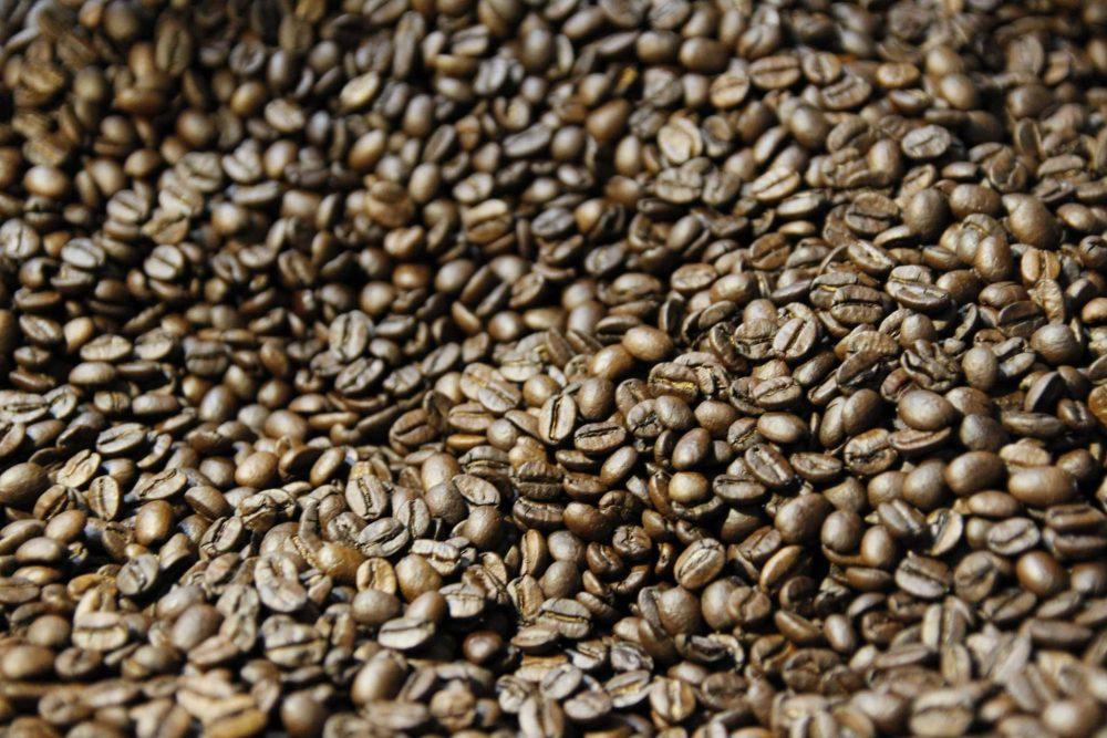 Caffe' D'angio' Torrefazione Artigianale. Chicchi di caffe' tostati