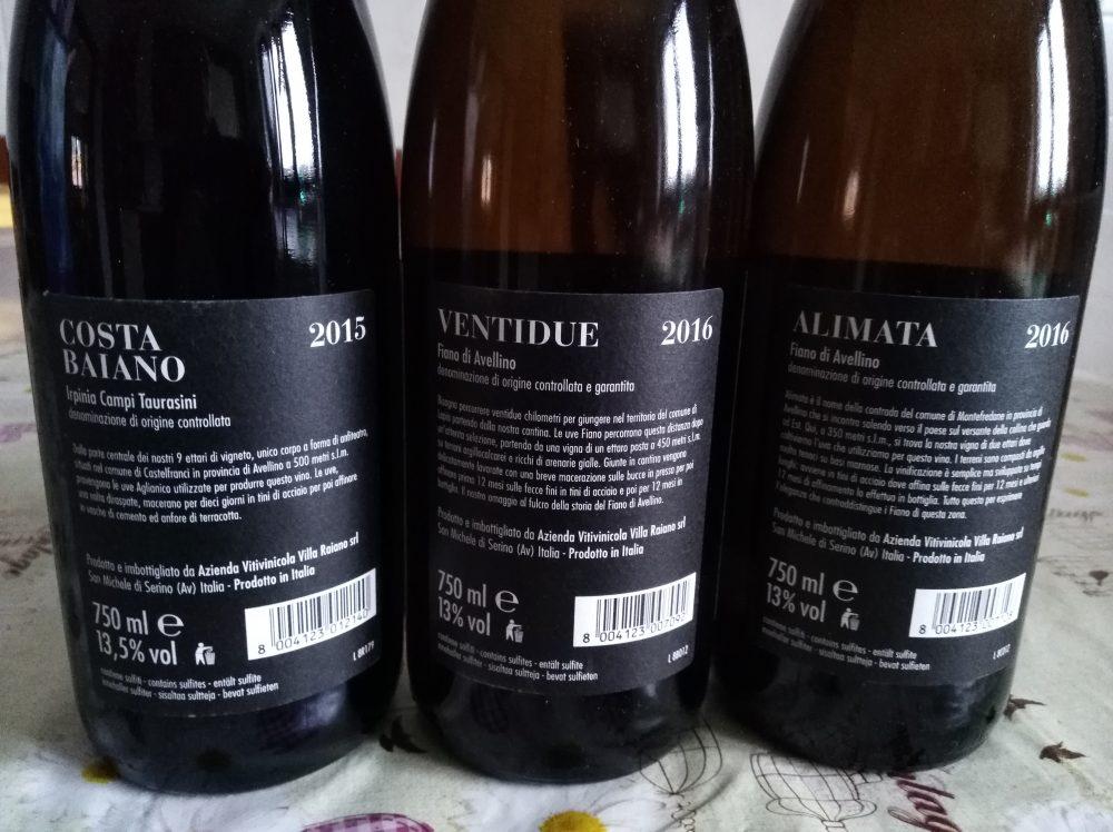 Controetichette Vini di Villa Raiano