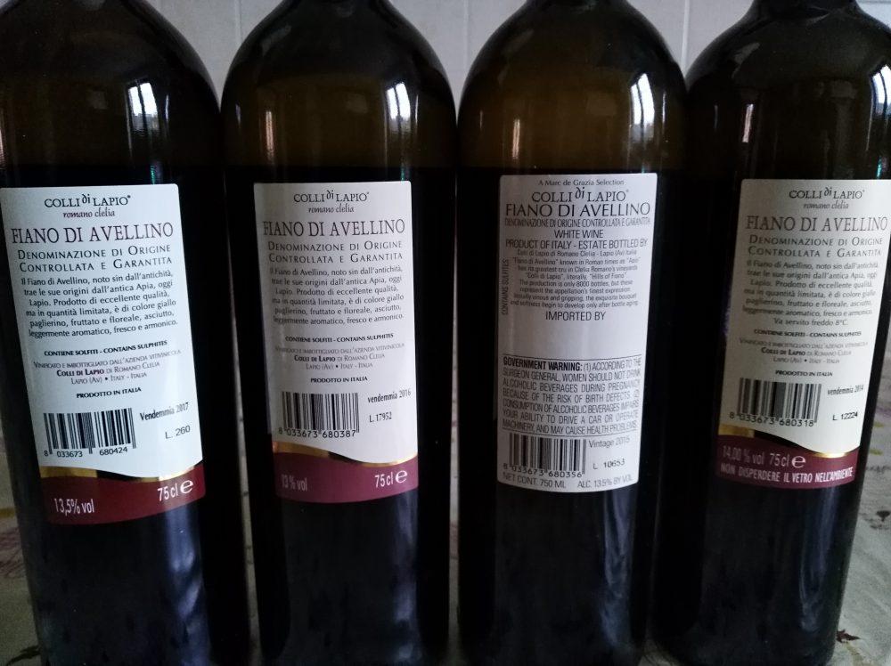 Controetichette mini verticale Fiano di Avellino Docg Clelia Romano