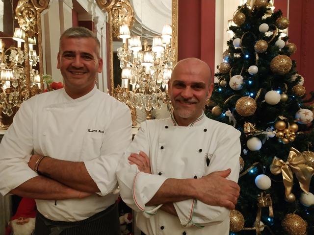 Gli chef Gaetano Iannone e Luciano Sarzi Sartori