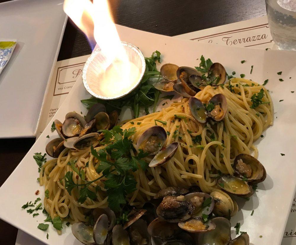 La Terrazza, Bettolino di Mediglia, spaghetti con le vongole