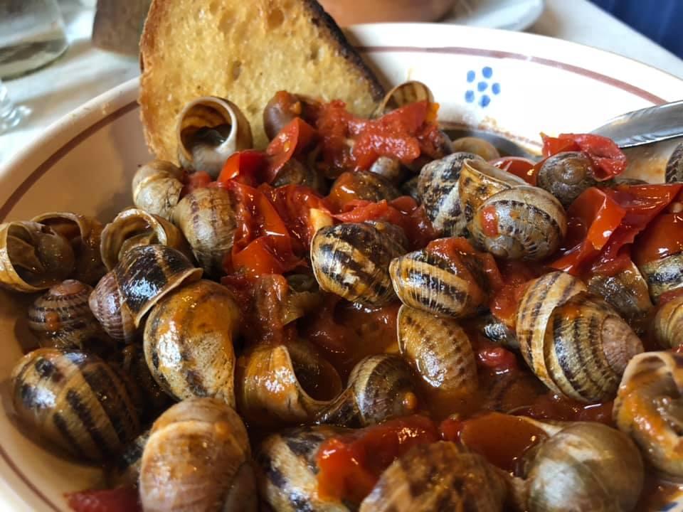 Masseria picone, lumache di terra al sugo rosso piccante