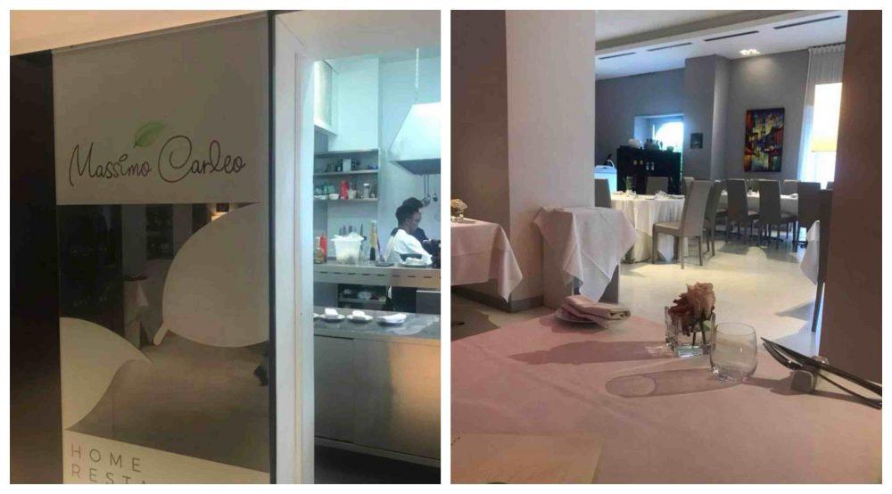 Massimo Carleo Home Restaurant, ingresso e sala