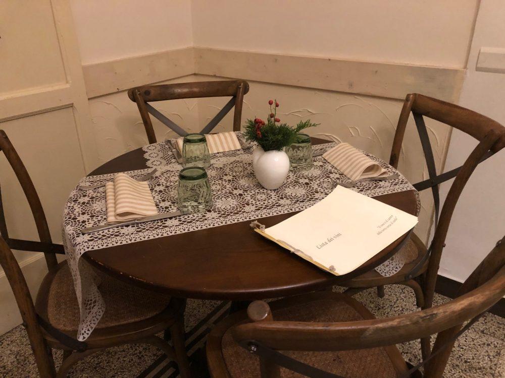 O Ca Bistro', tavolo e mise en place