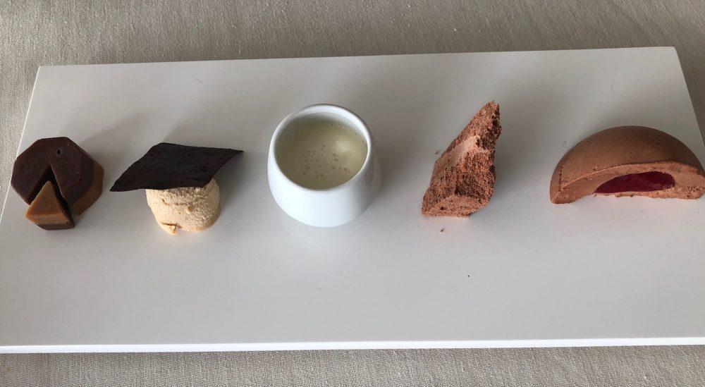 Ristorante Collina, Almenno San Bartolomeo, dessert al cioccolato, cinque variazioni sul tema