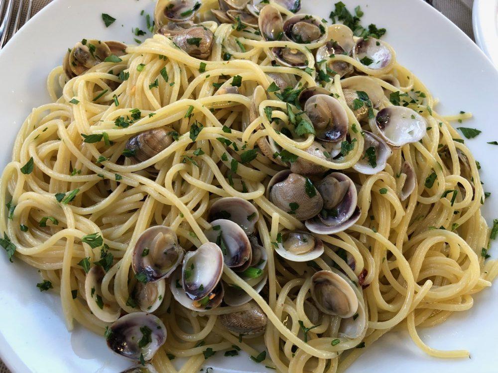 Ristorante dei Mille, Riccione, spaghetti con le vongoline dell'Adriatico