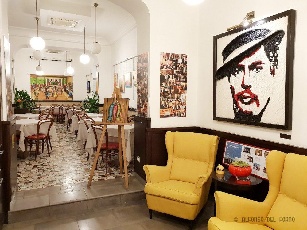 Ristorante pizzeria Umberto - Saletta storica frequentata da Caccioppoli