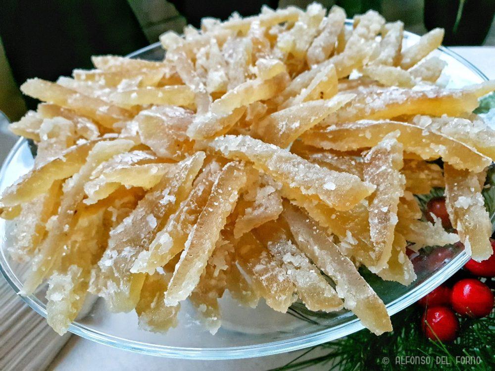 Scorzette candite di limone sfusato di Amalfi