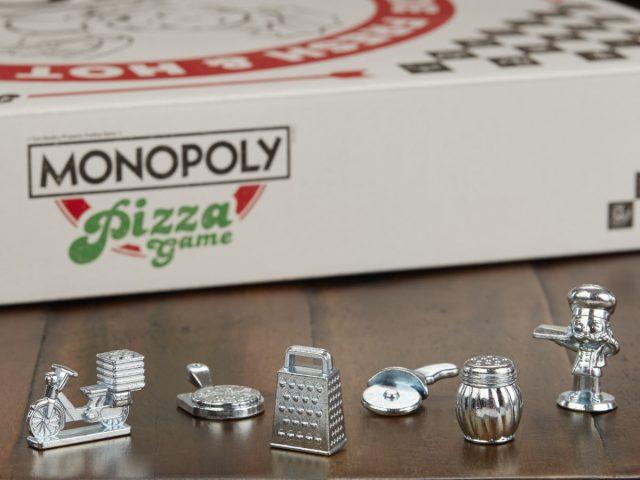 Le pedine del Monopoly Pizza Game