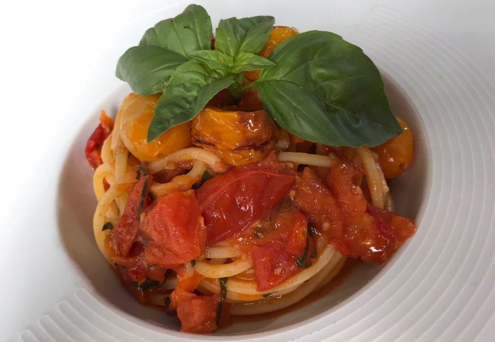 11 Made in Sud, Aicurzio, spaghetti di Gragnano ai tre pomodori