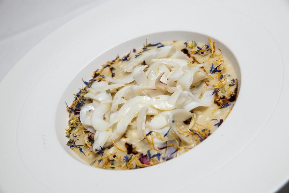 Risotti di Massimo Carleo - crema di carciofi-seppie