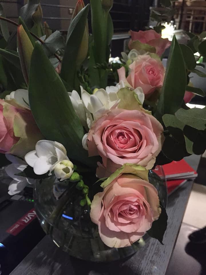 Osteria Fernanda, i fiori al banco