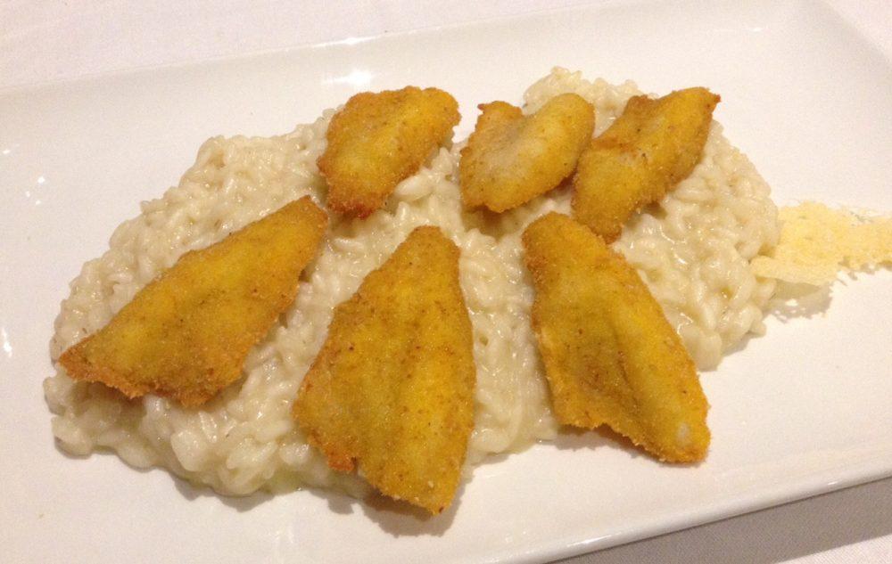 23 Osteria Marascia, Calolziocorte, risotto alla parmigiana con filettini dorati di pesce persico