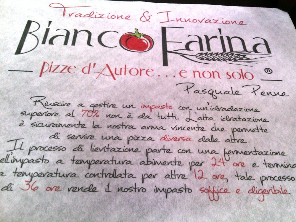 Bianco Farina, Il manifesto di Pasquale Penne