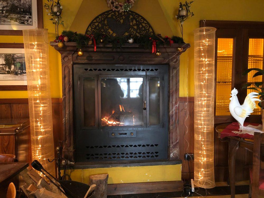 Antica Trattoria del Gallo, il calore del fuoco